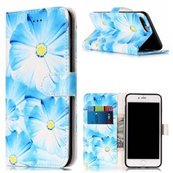 Orchid Flower PU Leather Wallet Case for iPhone 8 Plus / 7 Plus 8P 7P(5.5 inch)
