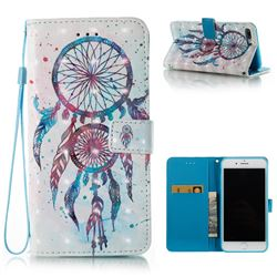 ColorDrops Wind Chimes 3D Painted Leather Wallet Case for iPhone 8 Plus / 7 Plus 8P 7P(5.5 inch)