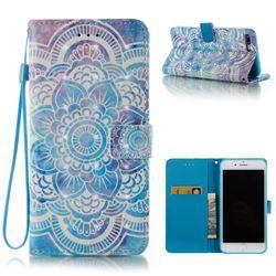 Mandala 3D Painted Leather Wallet Case for iPhone 8 Plus / 7 Plus 8P 7P(5.5 inch)