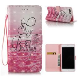 Beautiful 3D Painted Leather Wallet Case for iPhone 8 Plus / 7 Plus 8P 7P(5.5 inch)
