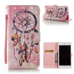 Bead Wind Chimes 3D Painted Leather Wallet Case for iPhone 8 Plus / 7 Plus 8P 7P(5.5 inch)