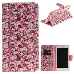 Intensive Floral PU Leather Wallet Case for iPhone 8 Plus / 7 Plus 8P 7P(5.5 inch)