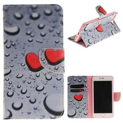 Heart Raindrop PU Leather Wallet Case for iPhone 8 Plus / 7 Plus 8P 7P(5.5 inch)