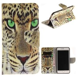 Yellow Tiger PU Leather Wallet Case for iPhone 8 Plus / 7 Plus 8P 7P(5.5 inch)