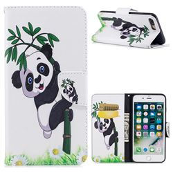 Bamboo Panda Leather Wallet Case for iPhone 8 Plus / 7 Plus 8P 7P(5.5 inch)