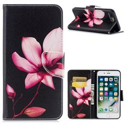 Lotus Flower Leather Wallet Case for iPhone 8 Plus / 7 Plus 8P 7P(5.5 inch)