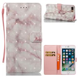 Beige Marble 3D Painted Leather Wallet Case for iPhone 8 Plus / 7 Plus 8P 7P(5.5 inch)