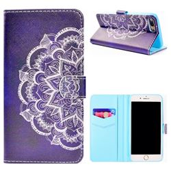 Half Lace Mandala Flower Stand Leather Wallet Case for iPhone 8 Plus / 7 Plus 7P(5.5 inch)