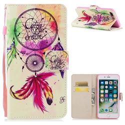 Feather Wind Chimes PU Leather Wallet Case for iPhone 8 Plus / 7 Plus 7P(5.5 inch)