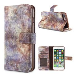 Luxury Retro Forest Series Leather Wallet Case for iPhone 8 Plus / 7 Plus 7P(5.5 inch) - White