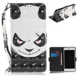 Angry Bear 3D Painted Leather Wallet Phone Case for iPhone 8 Plus / 7 Plus 7P(5.5 inch)
