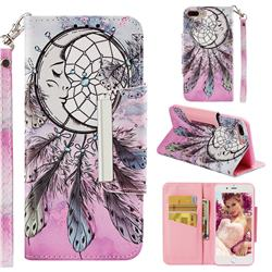 Angel Monternet Big Metal Buckle PU Leather Wallet Phone Case for iPhone 8 Plus / 7 Plus 7P(5.5 inch)
