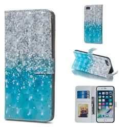 Sea Sand 3D Painted Leather Phone Wallet Case for iPhone 8 Plus / 7 Plus 7P(5.5 inch)