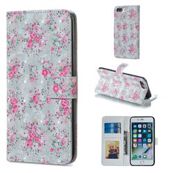 Roses Flower 3D Painted Leather Phone Wallet Case for iPhone 8 Plus / 7 Plus 7P(5.5 inch)