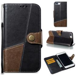 Retro Magnetic Stitching Wallet Flip Cover for iPhone 8 Plus / 7 Plus 7P(5.5 inch) - Dark Gray