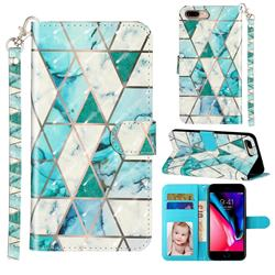 Stitching Marble 3D Leather Phone Holster Wallet Case for iPhone 8 Plus / 7 Plus 7P(5.5 inch)
