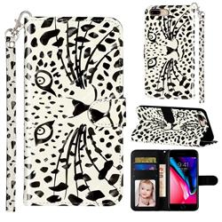 Leopard Panther 3D Leather Phone Holster Wallet Case for iPhone 8 Plus / 7 Plus 7P(5.5 inch)