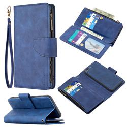 Binfen Color BF02 Sensory Buckle Zipper Multifunction Leather Phone Wallet for iPhone 8 Plus / 7 Plus 7P(5.5 inch) - Blue