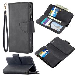 Binfen Color BF02 Sensory Buckle Zipper Multifunction Leather Phone Wallet for iPhone 8 Plus / 7 Plus 7P(5.5 inch) - Black