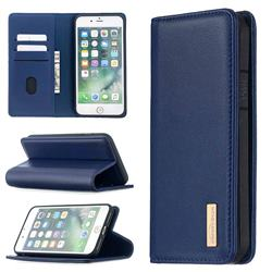 Binfen Color BF06 Luxury Classic Genuine Leather Detachable Magnet Holster Cover for iPhone 8 Plus / 7 Plus 7P(5.5 inch) - Blue