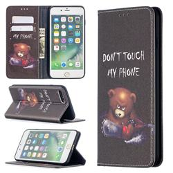 Chainsaw Bear Slim Magnetic Attraction Wallet Flip Cover for iPhone 8 Plus / 7 Plus 7P(5.5 inch)