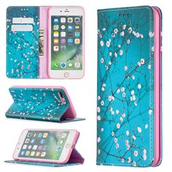 Plum Blossom Slim Magnetic Attraction Wallet Flip Cover for iPhone 8 Plus / 7 Plus 7P(5.5 inch)