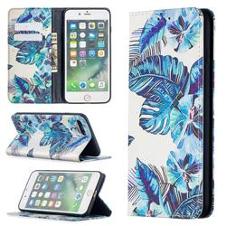 Blue Leaf Slim Magnetic Attraction Wallet Flip Cover for iPhone 8 Plus / 7 Plus 7P(5.5 inch)