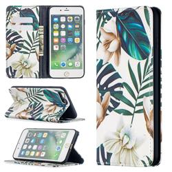 Flower Leaf Slim Magnetic Attraction Wallet Flip Cover for iPhone 8 Plus / 7 Plus 7P(5.5 inch)