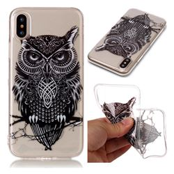 Staring Owl Super Clear Soft TPU Back Cover for iPhone XS / X / 10 (5.8 inch)