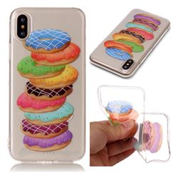 Melaleuca Donuts Super Clear Soft TPU Back Cover for iPhone XS / X / 10 (5.8 inch)
