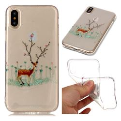 Branches Elk Super Clear Soft TPU Back Cover for iPhone XS / X / 10 (5.8 inch)