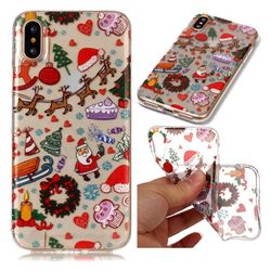 Christmas Playground Super Clear Soft TPU Back Cover for iPhone XS / X / 10 (5.8 inch)