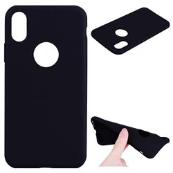 Candy Soft TPU Back Cover for iPhone XS / X / 10 (5.8 inch) - Black