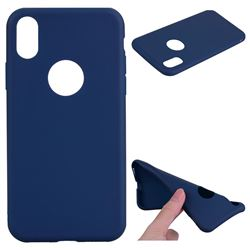 Candy Soft TPU Back Cover for iPhone XS / X / 10 (5.8 inch) - Blue