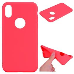 Candy Soft TPU Back Cover for iPhone XS / X / 10 (5.8 inch) - Red