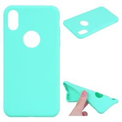 Candy Soft TPU Back Cover for iPhone XS / X / 10 (5.8 inch) - Green
