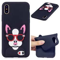 Glasses Gog Soft 3D Silicone Case for iPhone XS / X / 10 (5.8 inch)