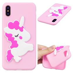 Pony Soft 3D Silicone Case for iPhone XS / X / 10 (5.8 inch)