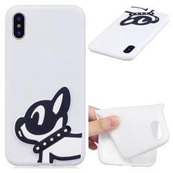 Cute Dog Soft 3D Silicone Case for iPhone XS / X / 10 (5.8 inch)