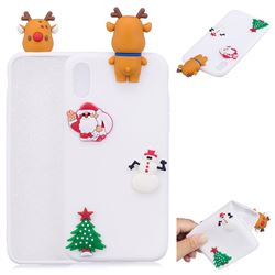 White Elk Christmas Xmax Soft 3D Silicone Case for iPhone XS / X / 10 (5.8 inch)