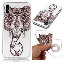 Tattoo Elephant Super Clear Soft TPU Back Cover for iPhone XS / X / 10 (5.8 inch)