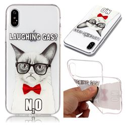 Laughing Gas Super Clear Soft TPU Back Cover for iPhone XS / X / 10 (5.8 inch)
