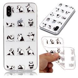 Panda Yoga Super Clear Soft TPU Back Cover for iPhone XS / X / 10 (5.8 inch)