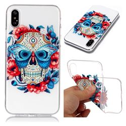 Butterfly Skull Super Clear Soft TPU Back Cover for iPhone XS / X / 10 (5.8 inch)