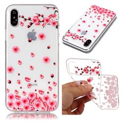 Snow Plum Super Clear Soft TPU Back Cover for iPhone XS / X / 10 (5.8 inch)