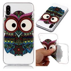 Tribal Owls Super Clear Soft TPU Back Cover for iPhone XS / X / 10 (5.8 inch)
