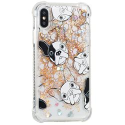Bulldog Dynamic Liquid Glitter Sand Quicksand Star TPU Case for iPhone XS / X / 10 (5.8 inch)