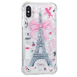 Mirror and Tower Dynamic Liquid Glitter Sand Quicksand Star TPU Case for iPhone XS / X / 10 (5.8 inch)