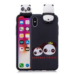 Diamond Prince Soft 3D Climbing Doll Soft Case for iPhone XS / X / 10 (5.8 inch)