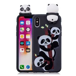 Ascended Panda Soft 3D Climbing Doll Soft Case for iPhone XS / X / 10 (5.8 inch)